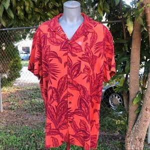 Aeropostale Palms Button-Down Resort Shirt Size L